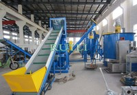 Top consumable products quality Plastic Recycling Plant/high performance automatic work pp pe film washing