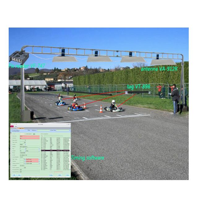complete Gokart  sport timing systems 4 port rfid reader