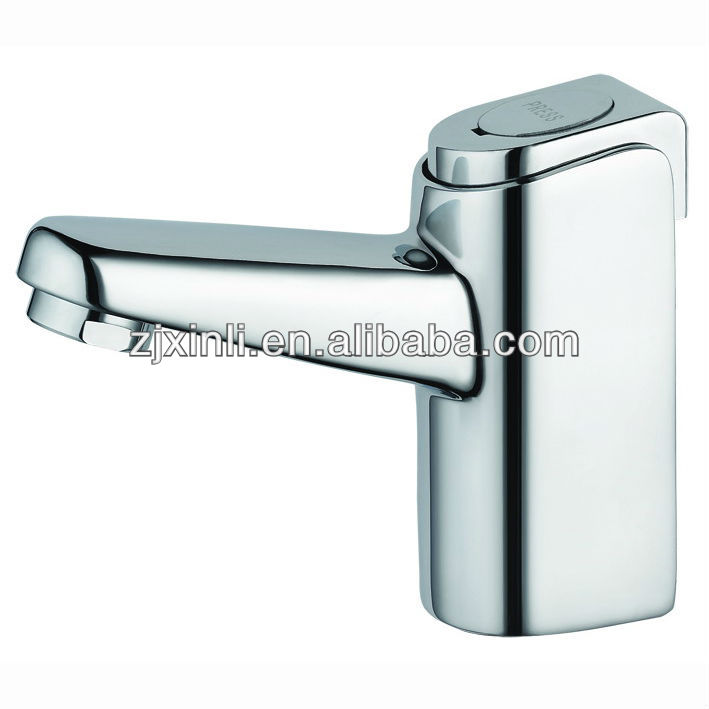 High Quality Brass Time Delay Basin Faucet, Chrome Finish and Deck Mounted