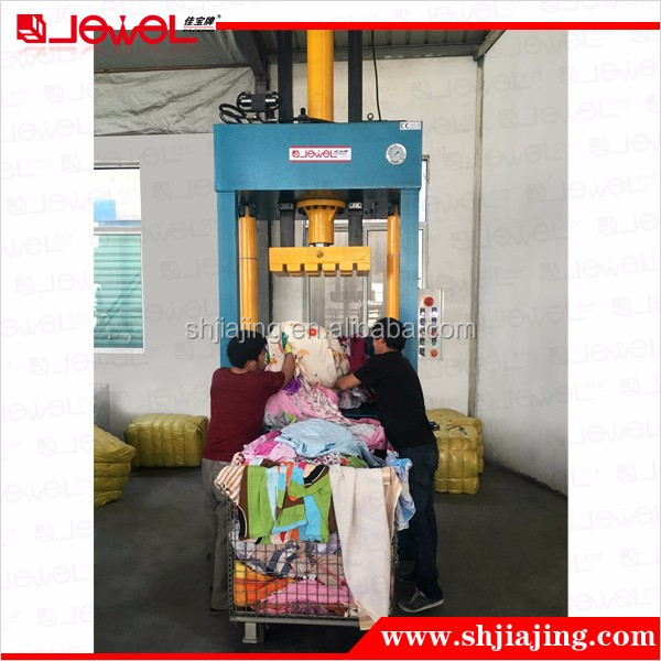 Hot sale second hand cloth baler with high configuration