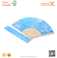 Chinese personalized wooden decorative fabric hand fan