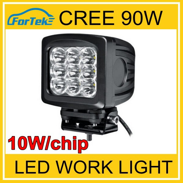 5.2 inch 10W/pc CREE LED work lamp square led working light 90W LED work light