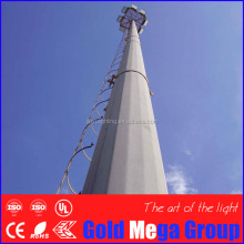 16m 20m 35m 40m road high mast hinged light tubular for airport parking lot highway plaza