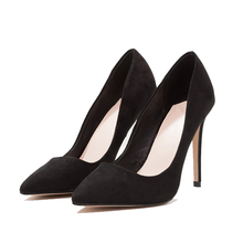 New Fashion Ladies Suede Pumps Party Rubber Safety Women High Heel Shoes