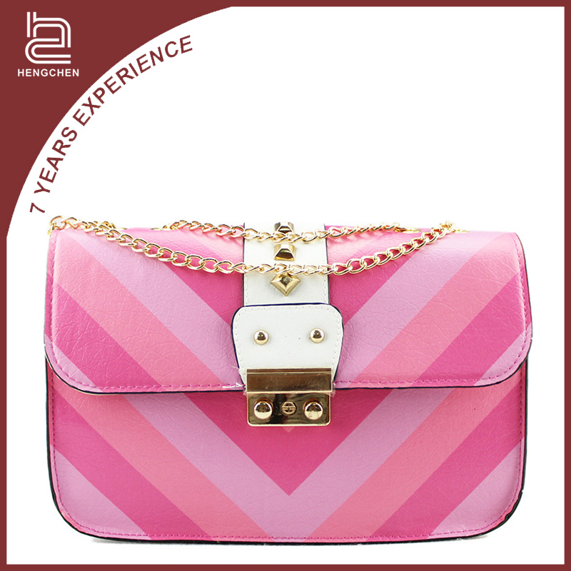 Handcee alibaba stock price colorful young ladies branded handbags