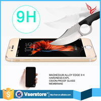 wholesale best 0.2mm tempered glass screen protector review for iphone 6 aluminium alloy color mobile phone tempered glass