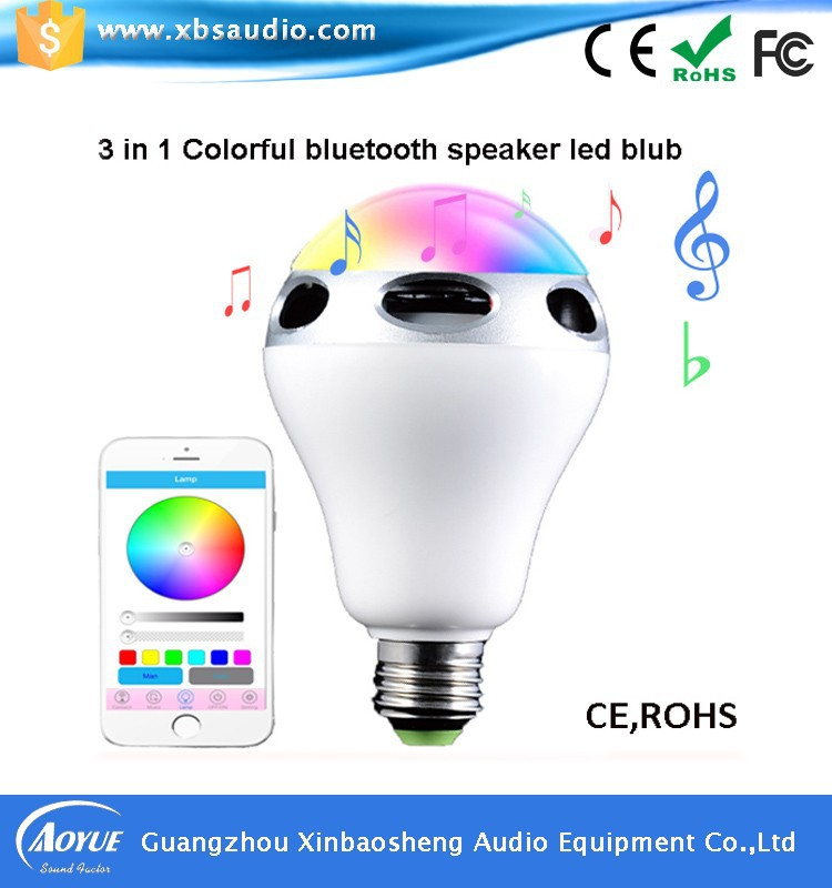 Factory Price Mini Bluetooth Speakers LED Colorful Light flashing With APP Control