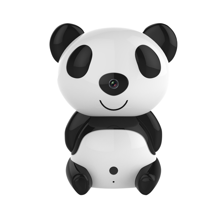 Cartoon Small Mini Ip Wifi Outdoor Night Vision Spy Security Camera Outdoor Hidden Panda Kids Care House Surveillance