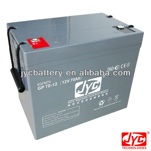 SMF solar deep cycle battery for UPS, solar or wind system
