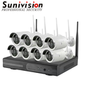 Home WiFi Security Camera Systems NVR WiFi Kit 4 Channel 720P H.265 H.264