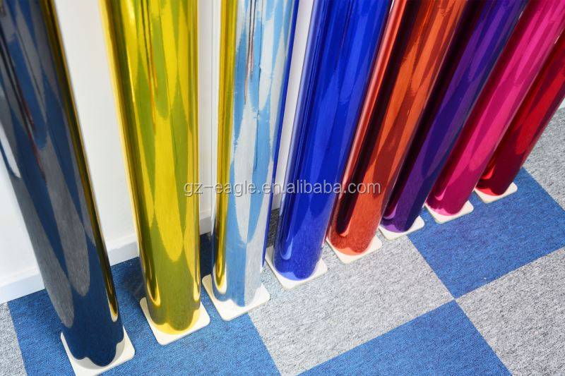 Removable Pvc Self-Adhesive 3D Chrome Car Wrap Vinyl /Chrome 3M Car Wrapping Vinyl