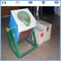 0.15 ton mini melting furnace for smelting copper scrap alumimum iron metal scrap