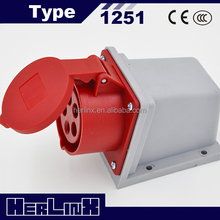 5 pin 400v industrial electrical plug and socket