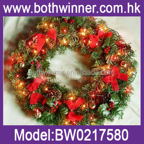 white christmas bows , 50cm christmas deco mesh wreath H0T011 christmas decorative mesh wreaths
