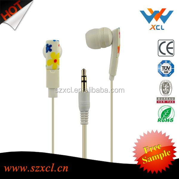 retractable funny cheap earphone splitter with speaker for <strong>mobil</strong> phone