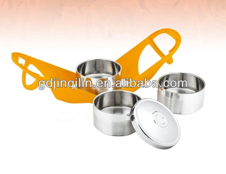most popular two layers stainless steel lunch box with handle for wholesale