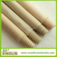 Chinese factory natural wood broom handle for floor cleaning