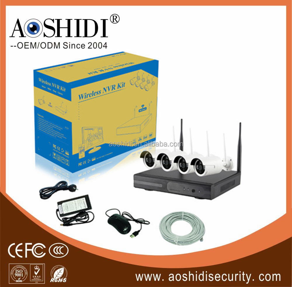 HD WiFi Home NVR Kits 4CH security recordable camera system wireless