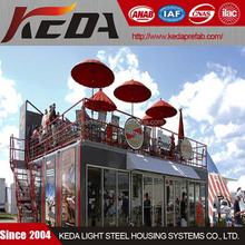Modular prefabricated container restaurant for sale