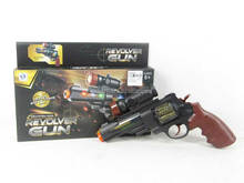 Kid's toy battery operated sound gun revolver gun toy, voice gun toys for wholesale, AF009305