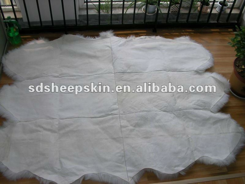 6 Pelts Pure Australian sheepskin Long Fur Plush Fur Rug