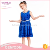 Custom latest fashion new model girl fancy summer frocks designs dress for kid