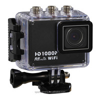 170 Degree 50M waterproof full hd 1080p gps sport racing camera with Wrist remote controller