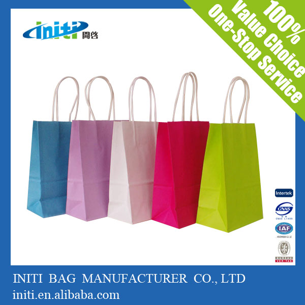 made in china high quality recyclable retail paper shopping bags