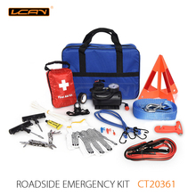 2018 China suppliers Excellent quality tools auto car emergency kits with booster cables