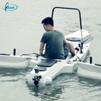 High quality canoe angler plastic motorized fishing kayaks