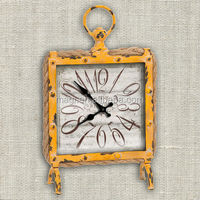 Yellow Metal Antique Table Clock