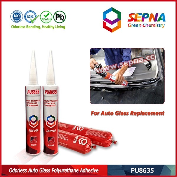 No Smell Polyurethane Adhesive for Bonding Windshield Side Glass Car Roof Side Body Car Front sealant PU8635 little volatile sme
