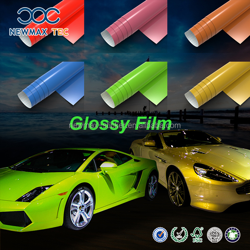 Self Adhesive Glitter Car Body Vinyl Film Rolls