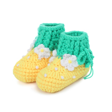 wholesale hand knitted pattern crochet baby shoes in bulk