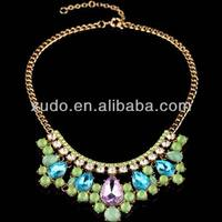 latest luxury beautiful diamond necklace 2014 spring/summer trendy jewelry