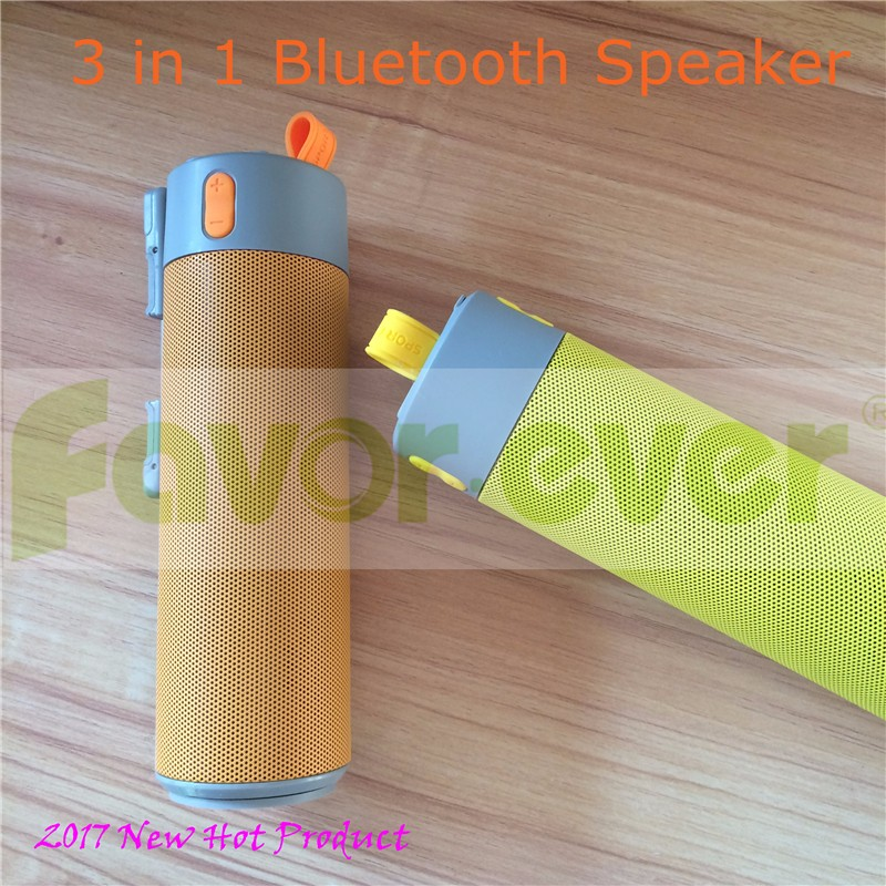2017 Fashion design power bank with bluetooth speaker portable gift smart multi function selfie stick bluetooth speaker