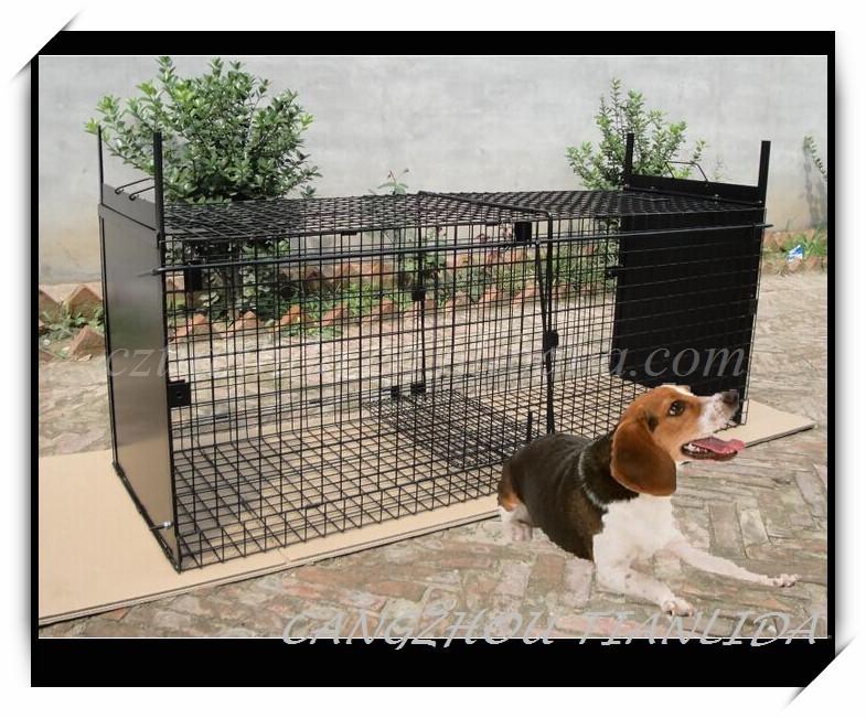 Collapsible Large Live Animal Trap Cage/Heavy Duty Cage Trap/Feral Dog Cage Trap---TLD2016