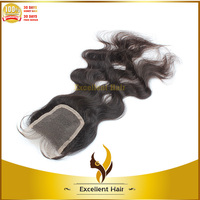 Cheap brazilian remy hair lace front top closure bangs lace closure