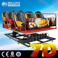New interactive stereo attraction guangzhou 7d mini movie theater