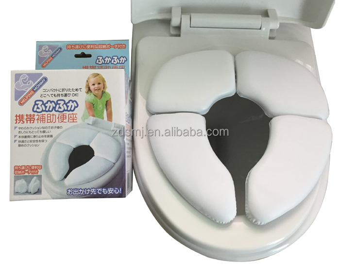 TRAVEL FOLDABLE Removable WC HELP MOTHER TRAINING CHILDREN TOILET SEAT ring