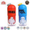 big hero plastic water bottle cartoon style for kids candy color customized