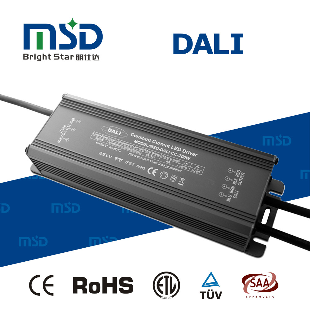 200 W watt 36 V volt waterproof constant current DALI dimmable LED driver 36V 200W