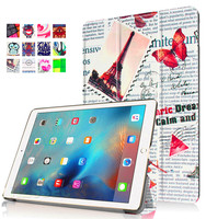 Colorful Eiffel Tower Pattern Anti Dust Protective Case For Ipad Pro 9.7 360 Degree Rotating Tablet Cover