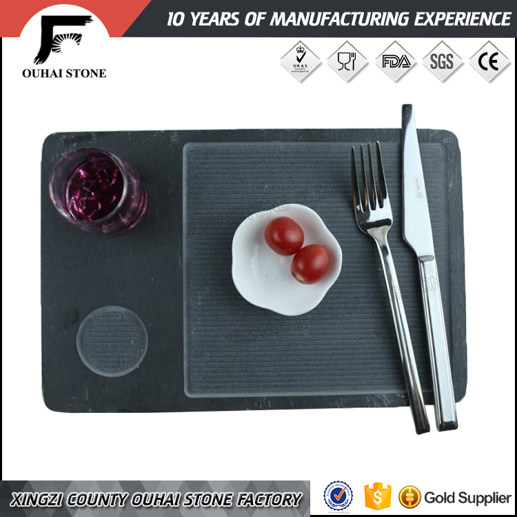 restaurant dinnerware natural stone slate plate with kerve View slate plate ouhaistone Product Details from Lushan City Ouhai Stone Factory on Alibaba.com & restaurant dinnerware natural stone slate plate with kerve View ...