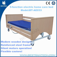 BT-AE033 Wooden folding 5-function electric cheap electric beds for the elderly prices