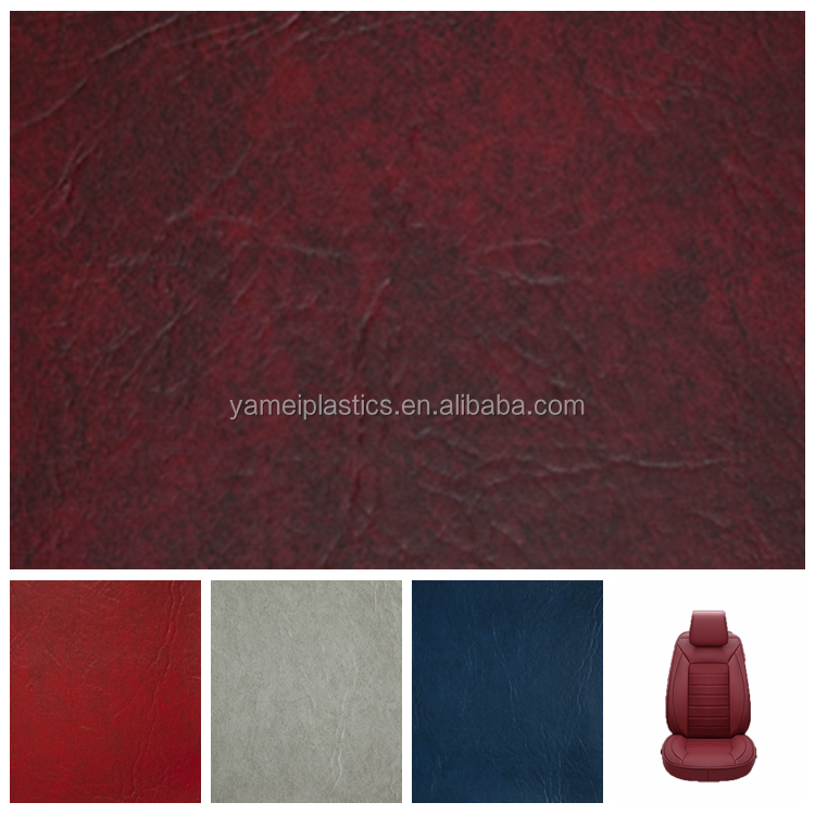 Various colors pvc leather for car seats and auto upholstery