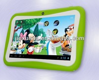 New Kids Cartoon Tablet PC Pre-installed Educational Apps & 7 inch Android 4.1 Dual Cam Wifi Pink/Blue/Orange/Green Free Case