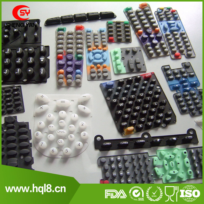 Silicone Rubber Keypad Button with Carbon Pill