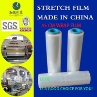 soft colurful plastic packaging pof shrink wrap stretch film for high toughness