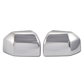 Presell For FORD F-150 F150 15 16 17 18 Trunk Door Side Mirror Cover Buckle Chrome Plastic